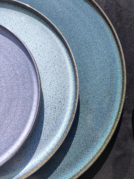 Blå tallerkener